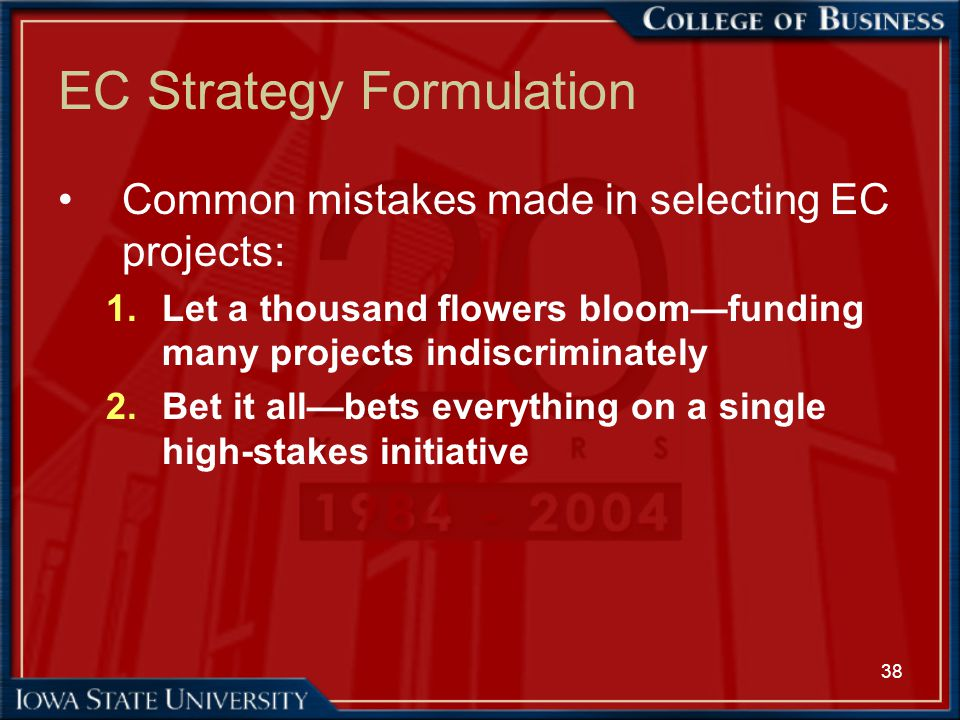 EC Strategy Formulation