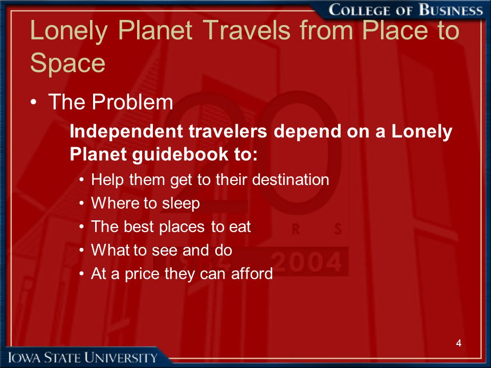 Lonely Planet Travels from Place to Space