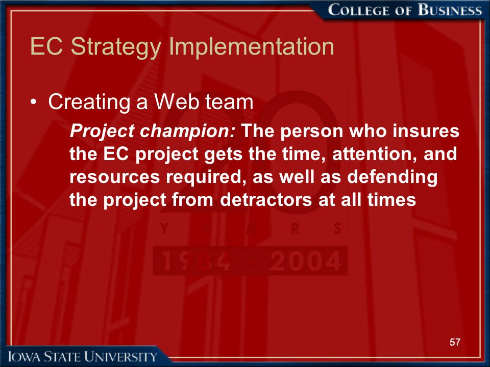 EC Strategy Implementation