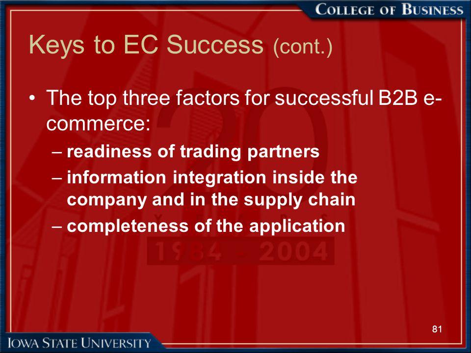 Keys to EC Success (cont.)