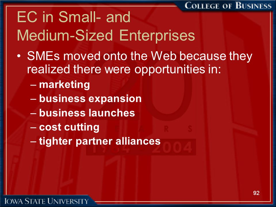 EC in Small- and Medium-Sized Enterprises