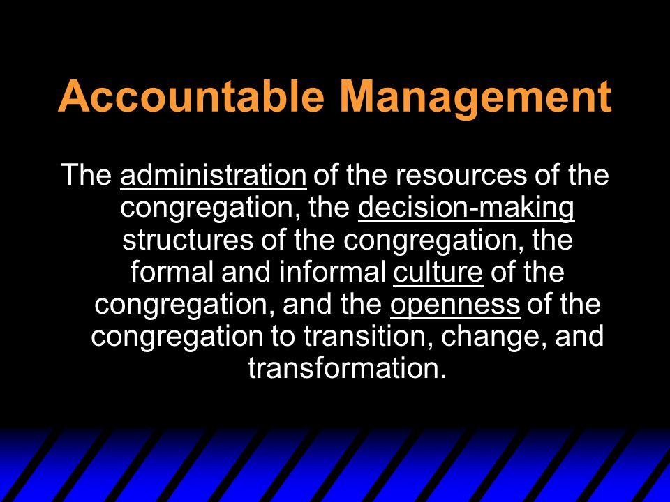 Accountable Management