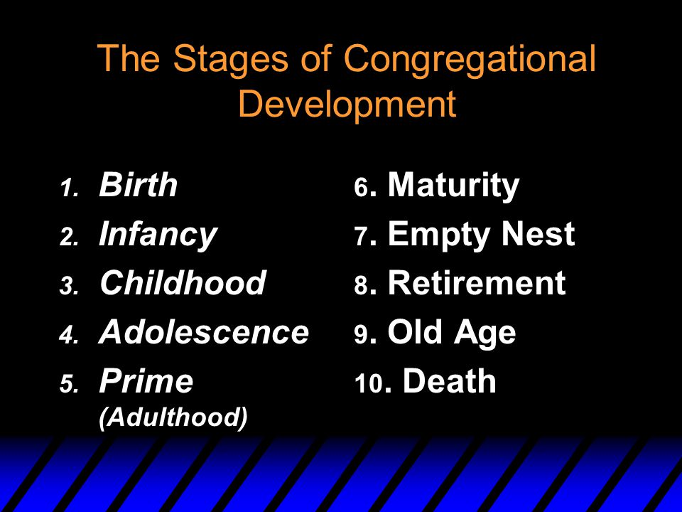 The Stages of Congregational Development