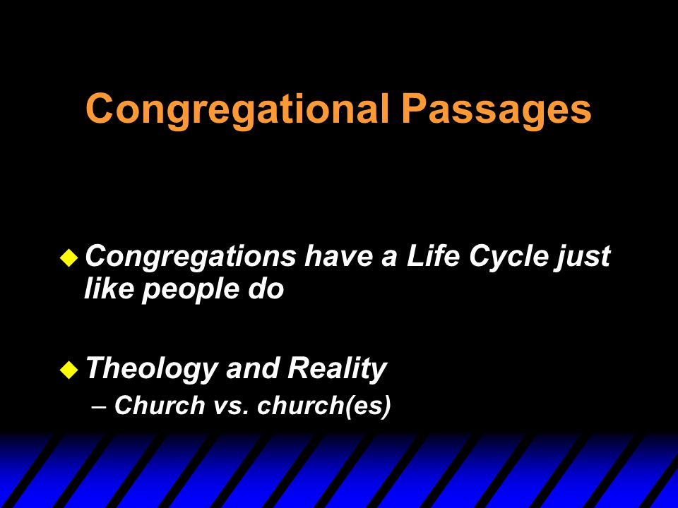 Congregational Passages