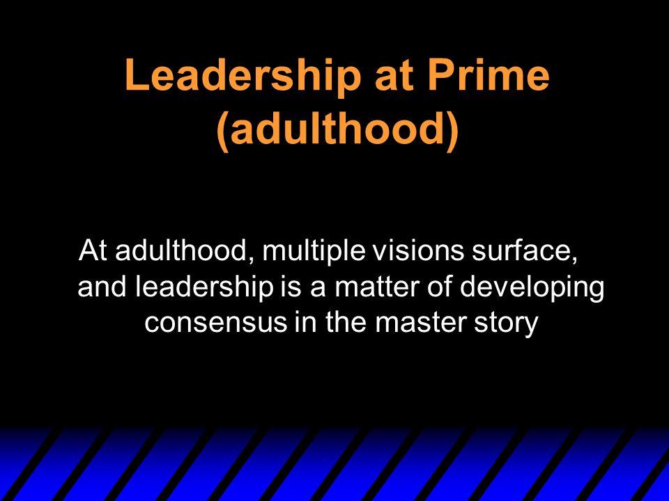 Leadership at Prime (adulthood)