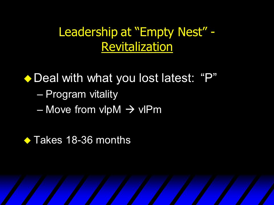 Leadership at Empty Nest - Revitalization
