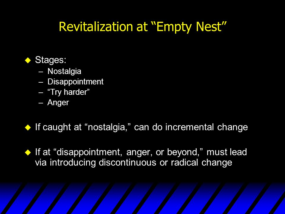 Revitalization at Empty Nest
