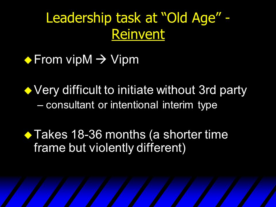 Leadership task at Old Age - Reinvent