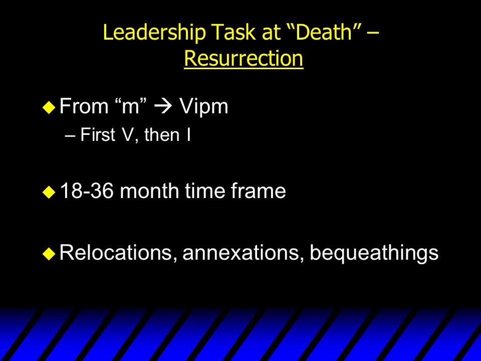 Leadership Task at Death – Resurrection