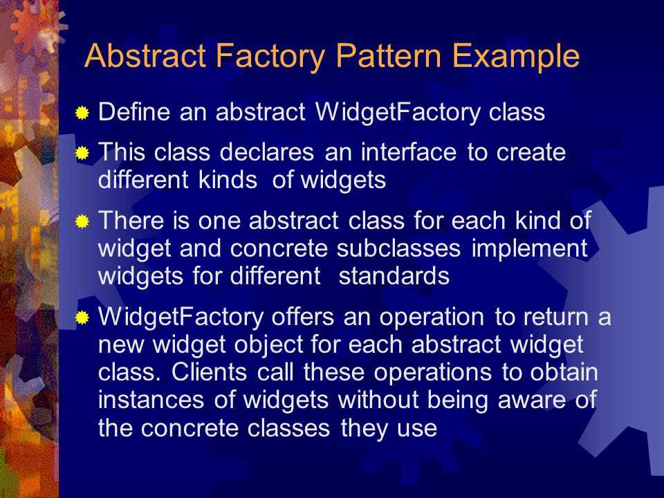 Abstract Factory Pattern Example