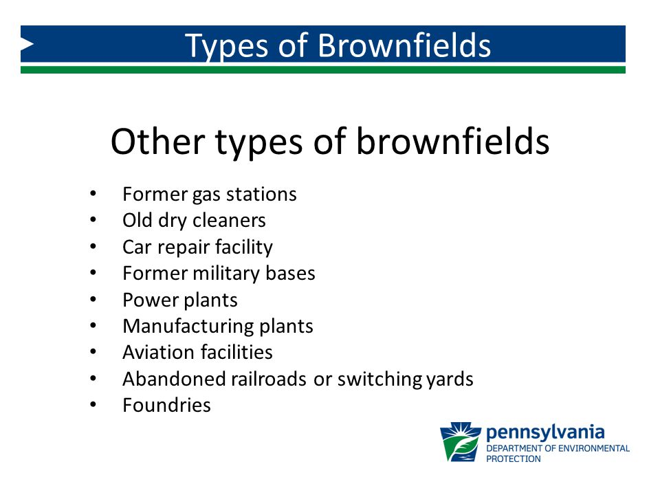 Other types of brownfields