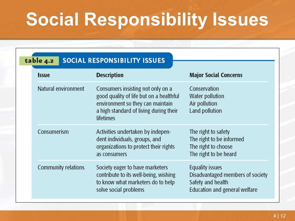 Social Responsibility Issues