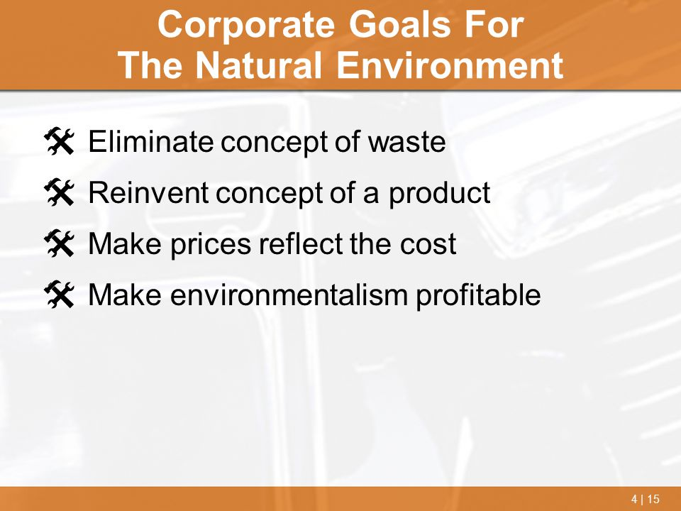 Corporate Goals For The Natural Environment