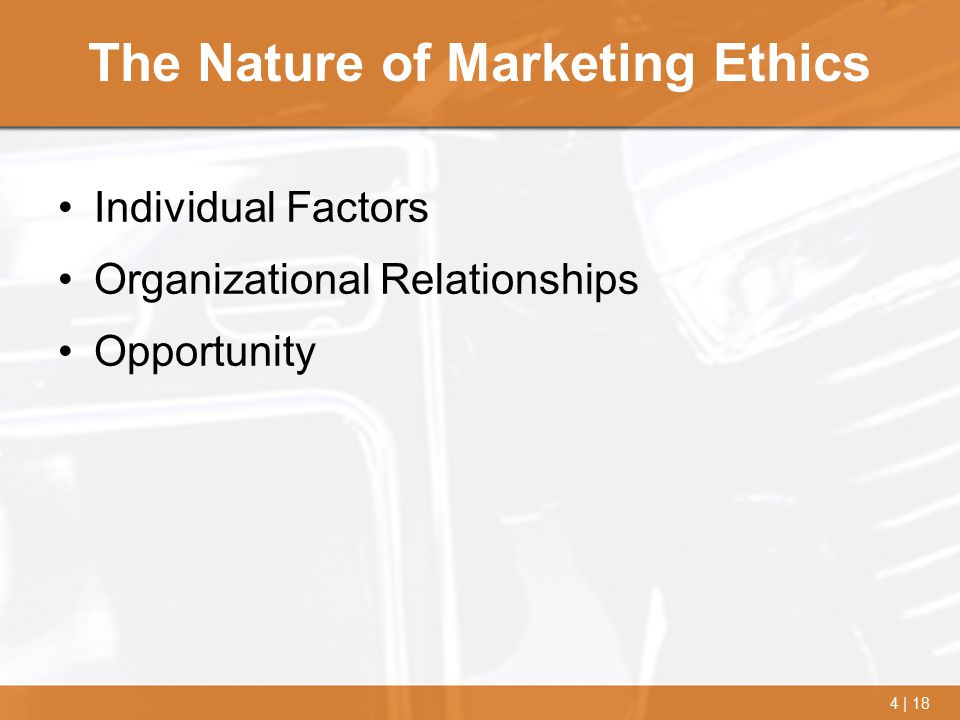 The Nature of Marketing Ethics