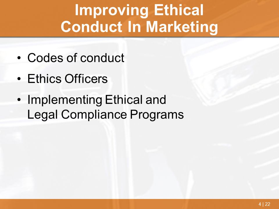 Improving Ethical Conduct In Marketing