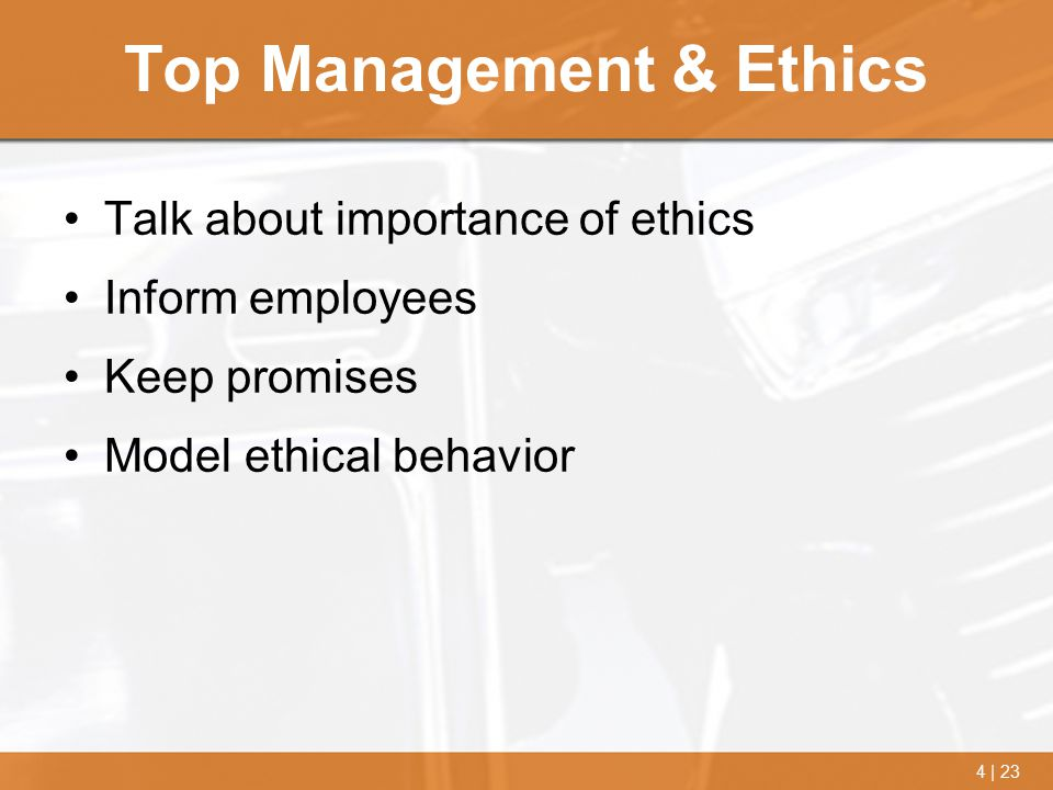 Top Management & Ethics