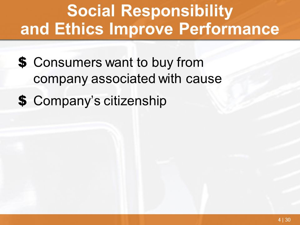 Social Responsibility and Ethics Improve Performance