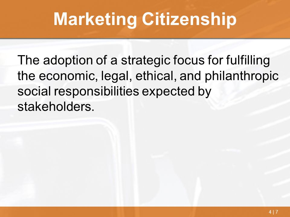 Marketing Citizenship