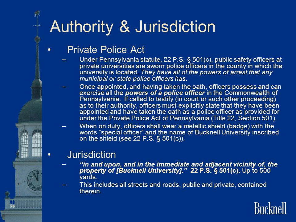 Authority & Jurisdiction