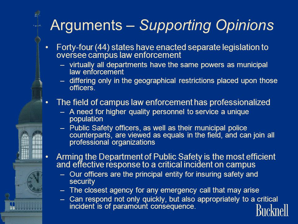 Arguments – Supporting Opinions