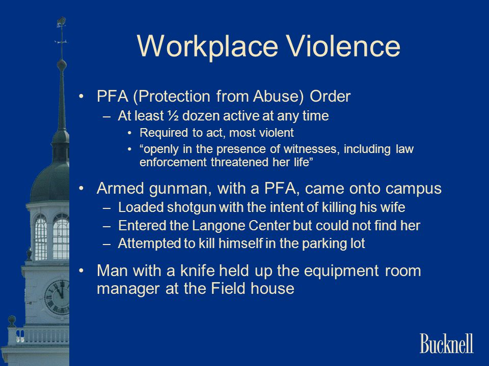 Workplace Violence PFA (Protection from Abuse) Order