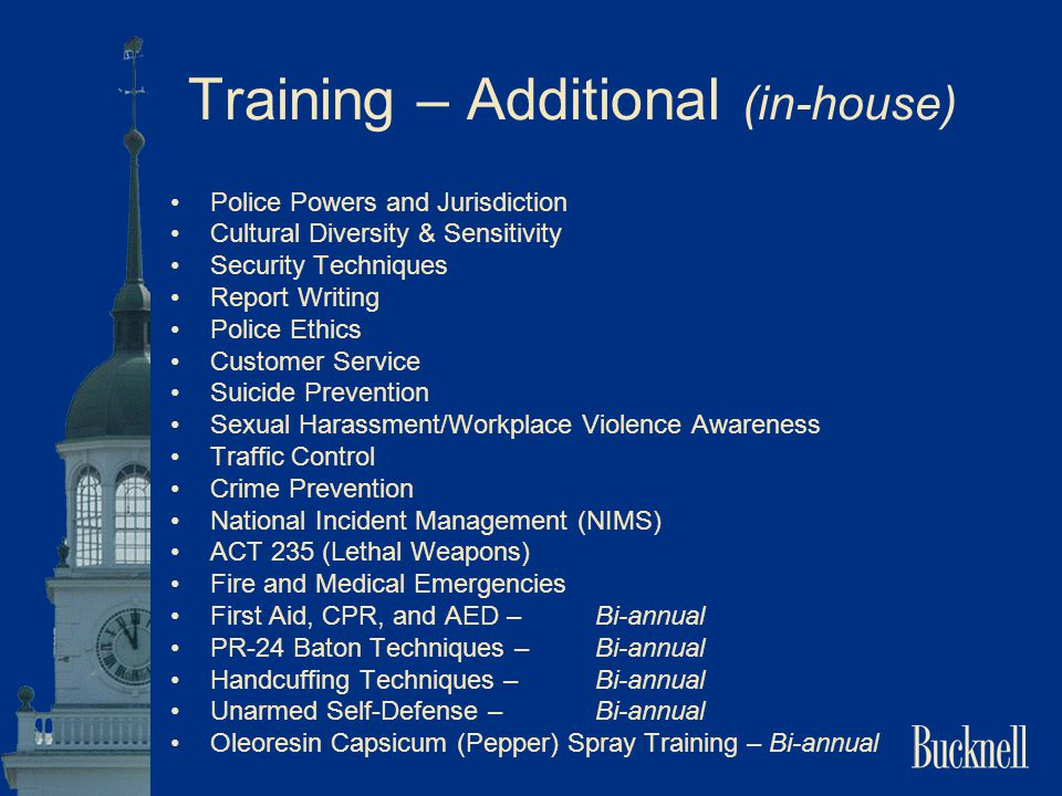 Training – Additional (in-house)