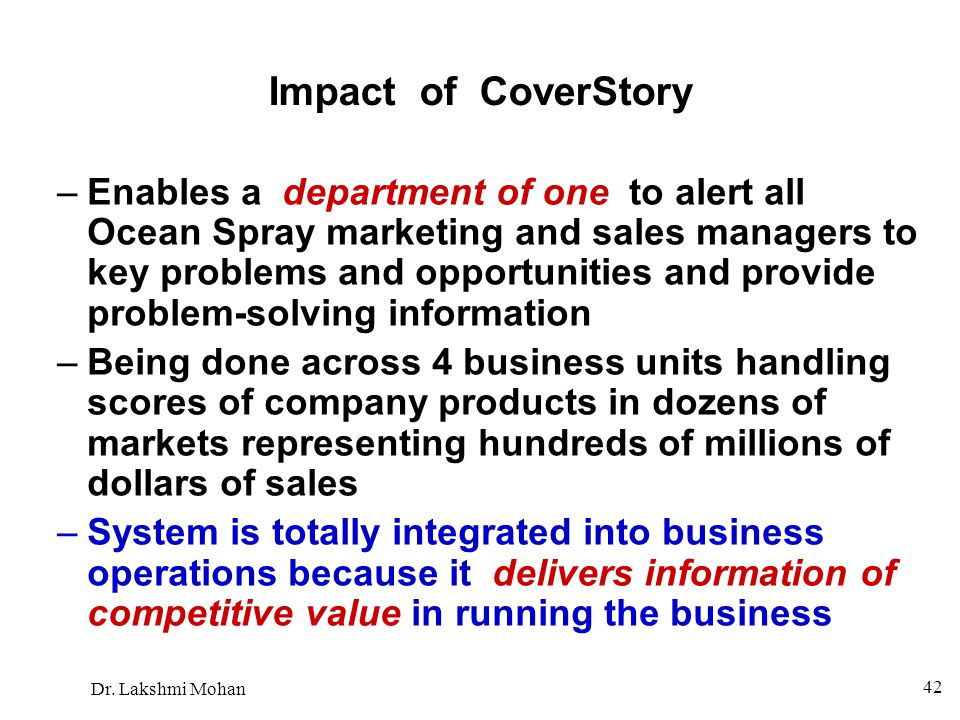 Impact of CoverStory