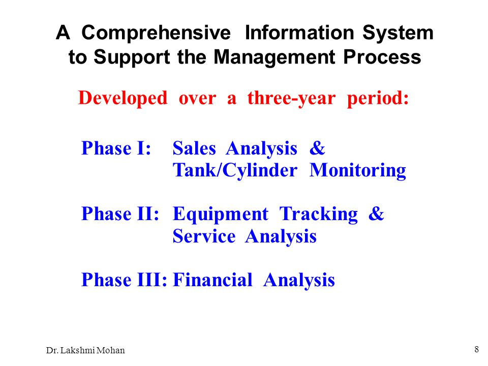 A Comprehensive Information System to Support the Management Process