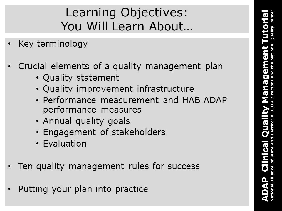 Learning Objectives: You Will Learn About…