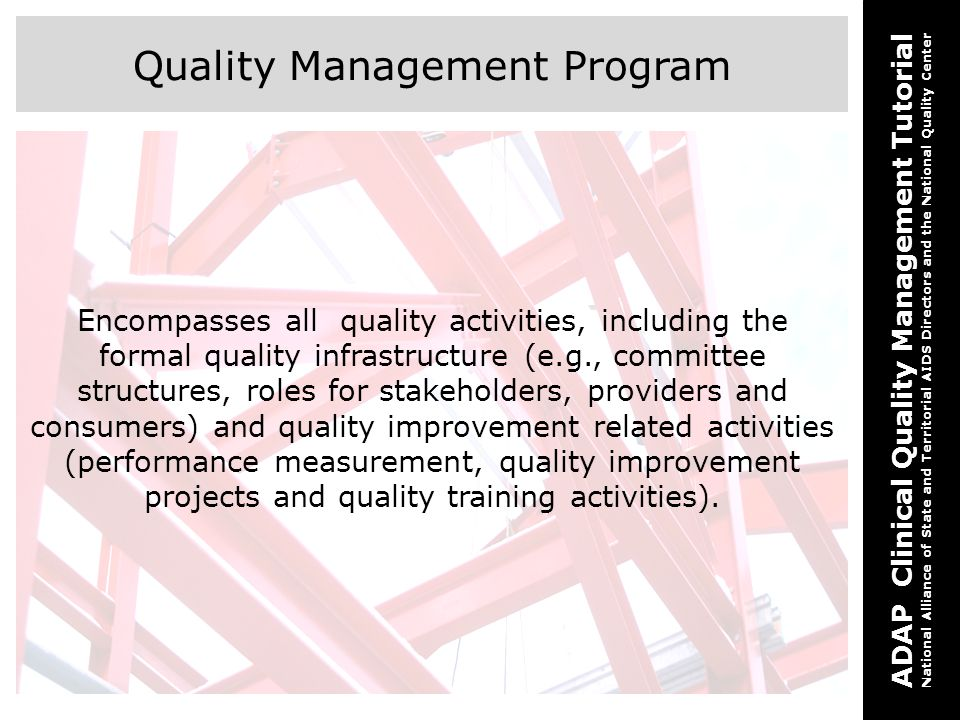 Quality Management Program