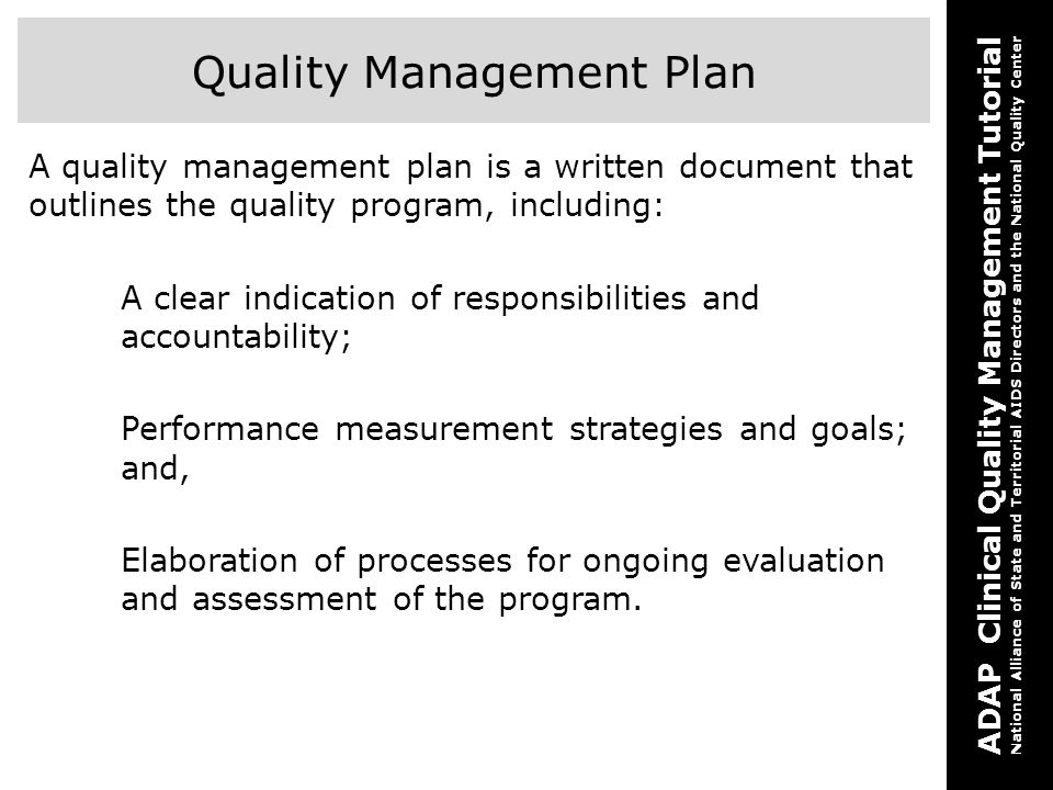 Adap Clinical Quality Management Tutorial Two How To Develop An