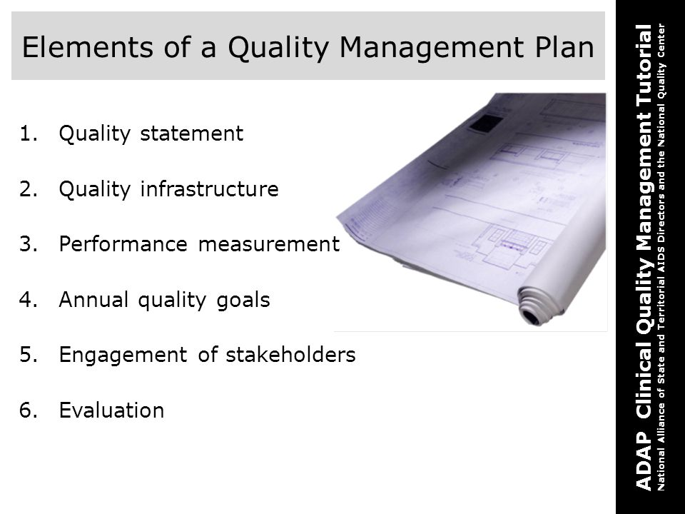 Elements of a Quality Management Plan