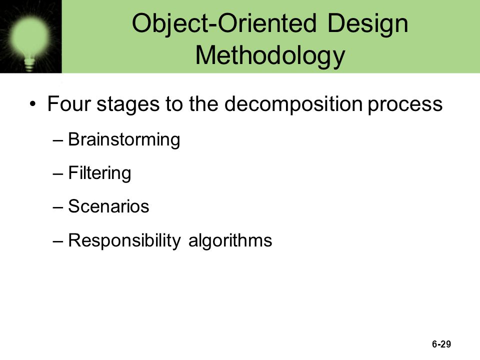 Object-Oriented Design Methodology