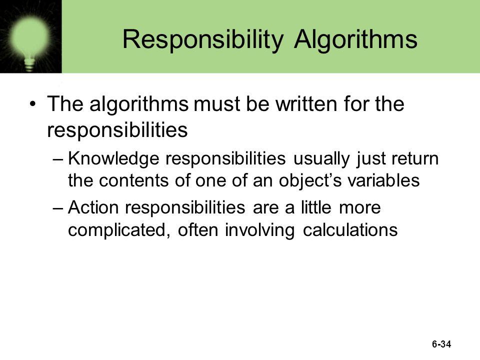 Responsibility Algorithms