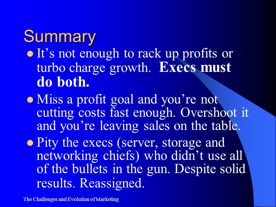 Summary It's not enough to rack up profits or turbo charge growth. Execs must do both.