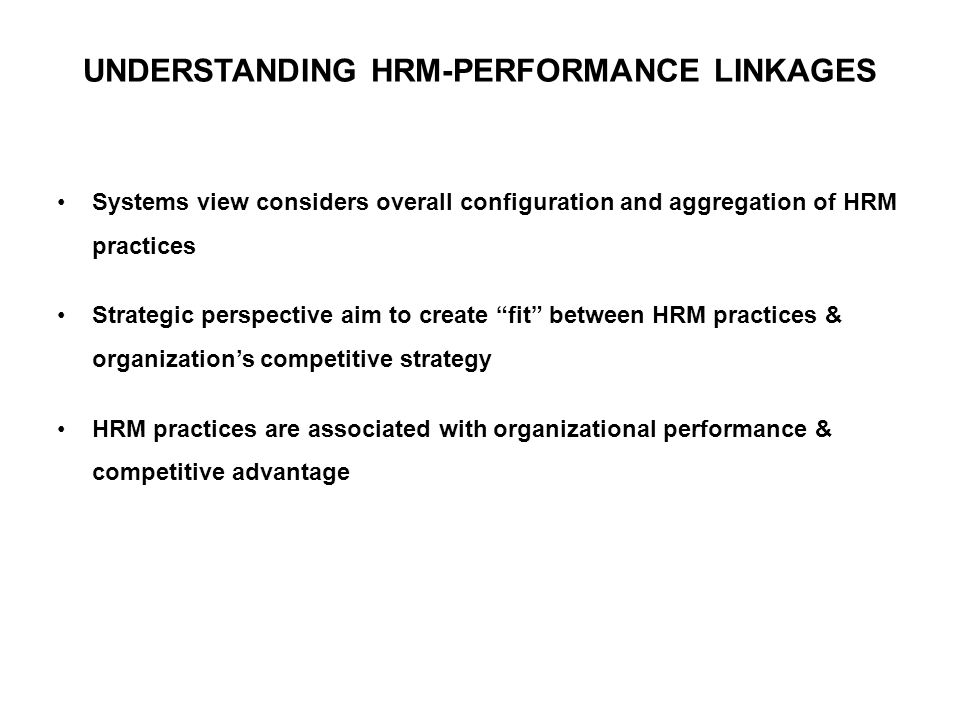 linkages between training strategic hrm Linkages between human resource management results for training keywords: quality, hrm, linkages human resource management strategic.