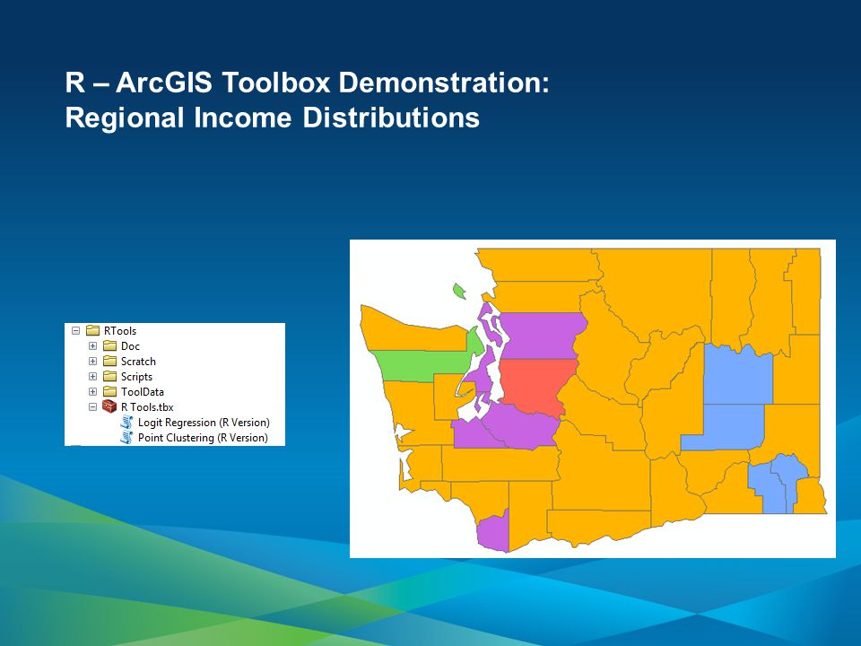 R – ArcGIS Toolbox Demonstration: Regional Income Distributions