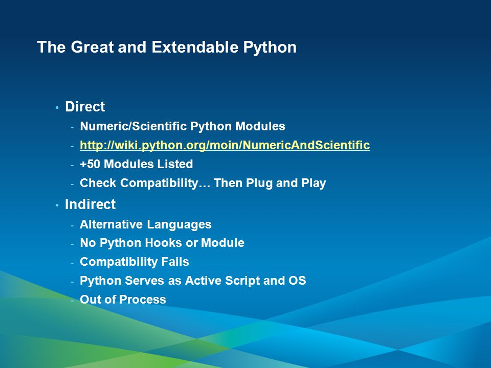 The Great and Extendable Python