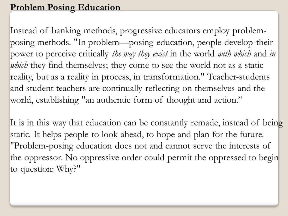 Problem Posing Education