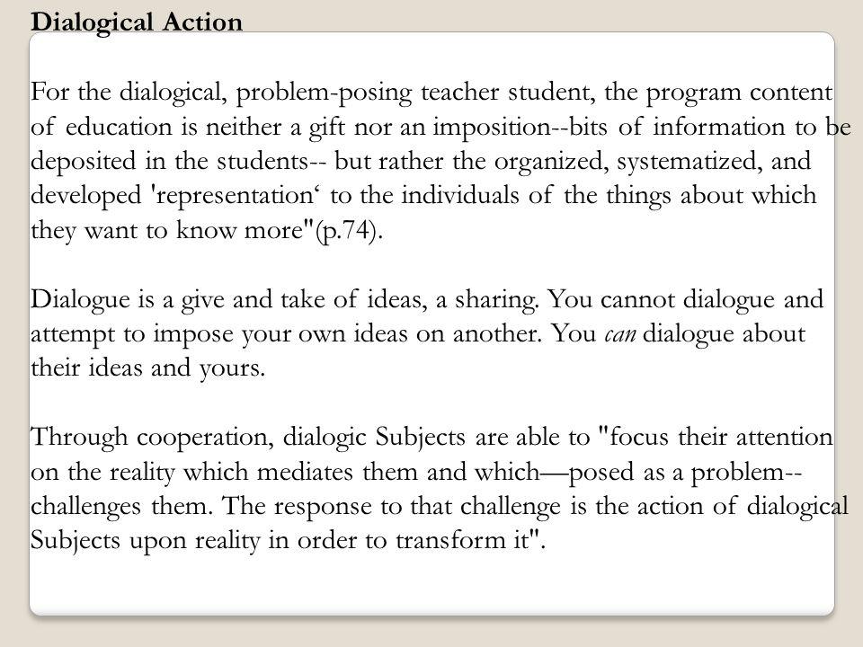 Dialogical Action