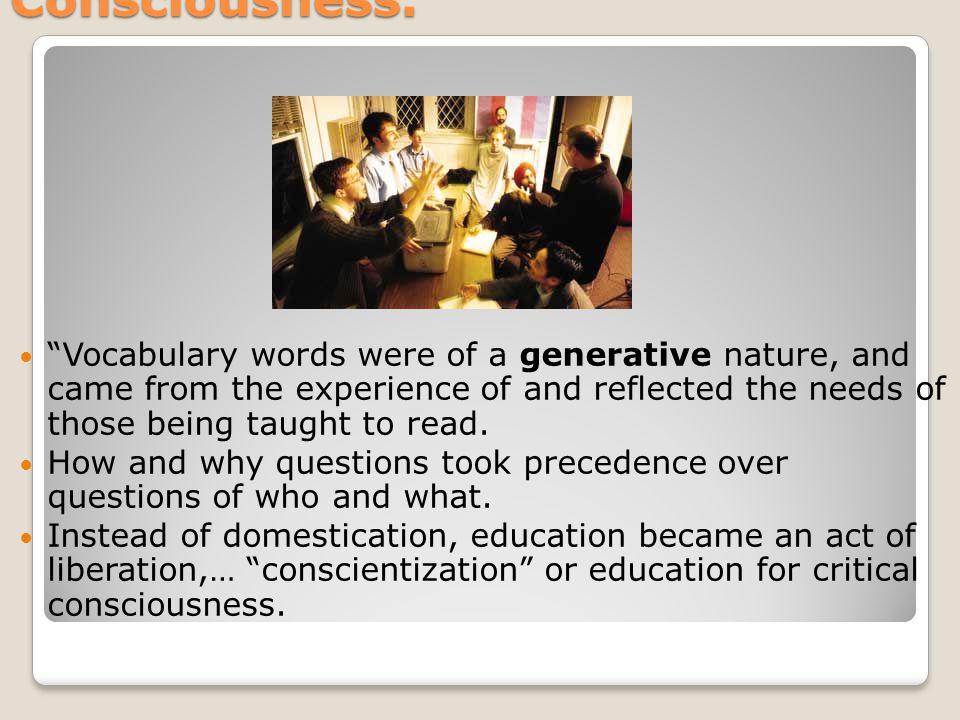 Education for Critical Consciousness.