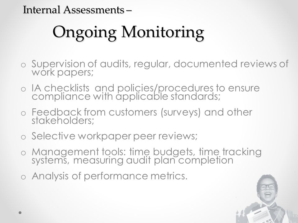 Internal Assessments – Ongoing Monitoring