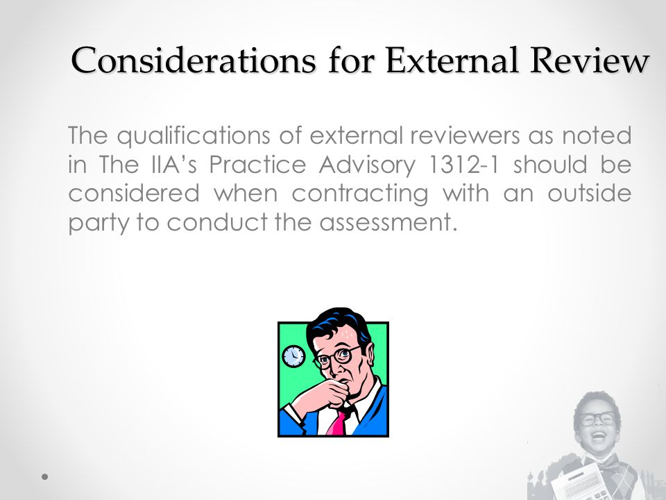 Considerations for External Review