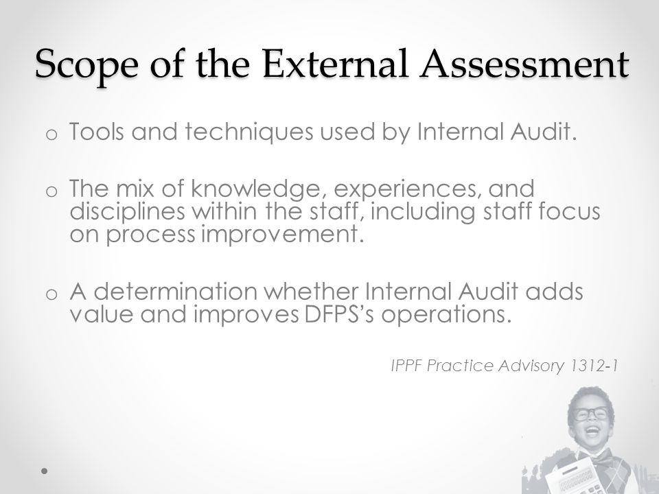 Scope of the External Assessment