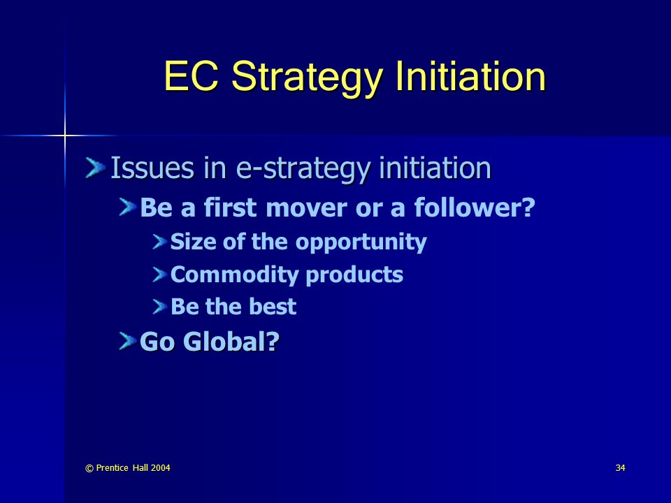 EC Strategy Initiation
