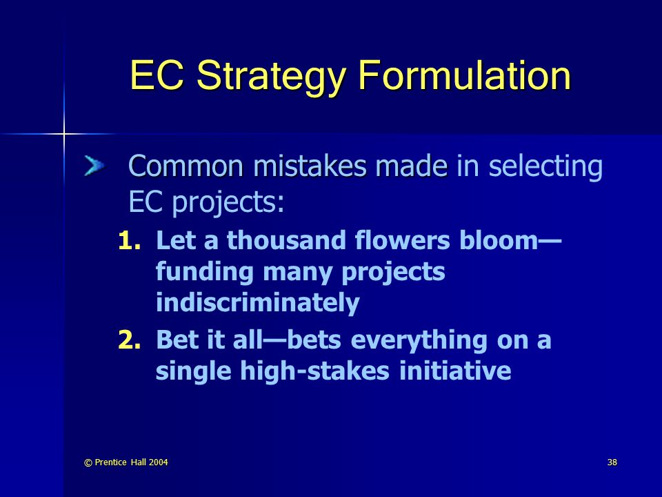 EC Strategy Formulation