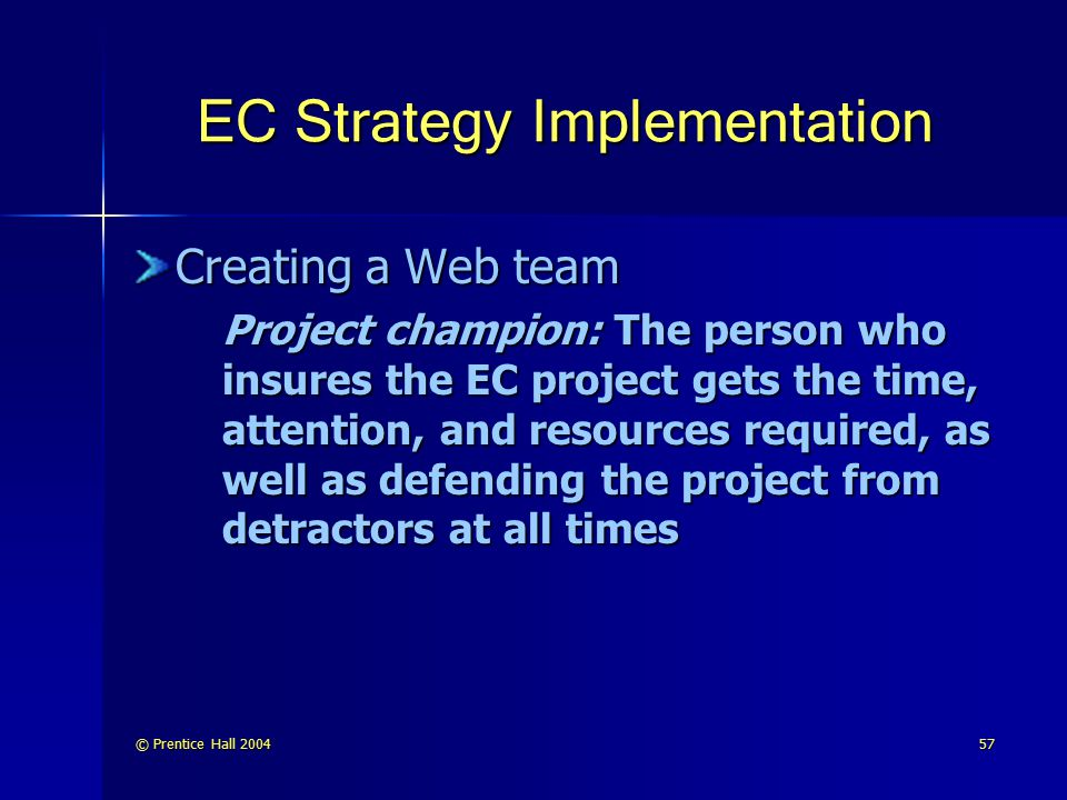 EC Strategy Implementation