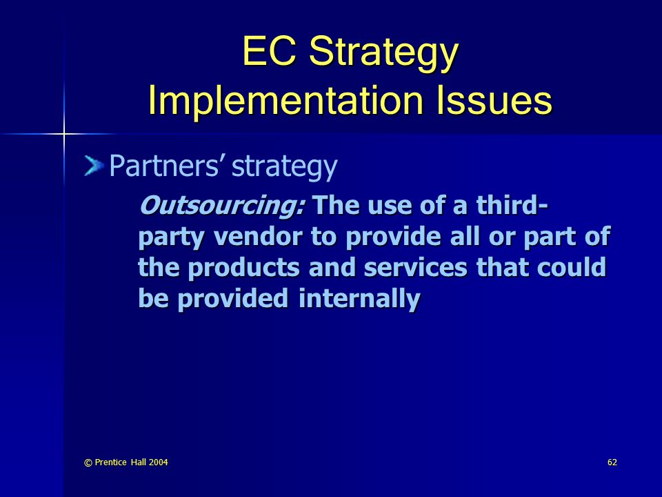 EC Strategy Implementation Issues