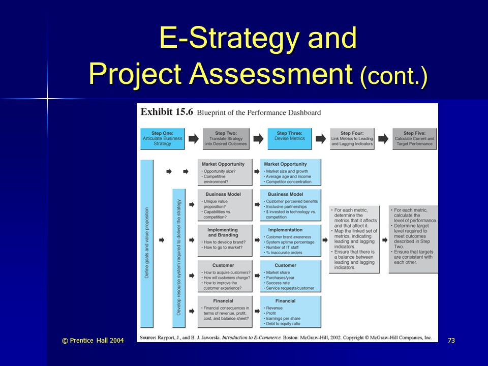 E-Strategy and Project Assessment (cont.)