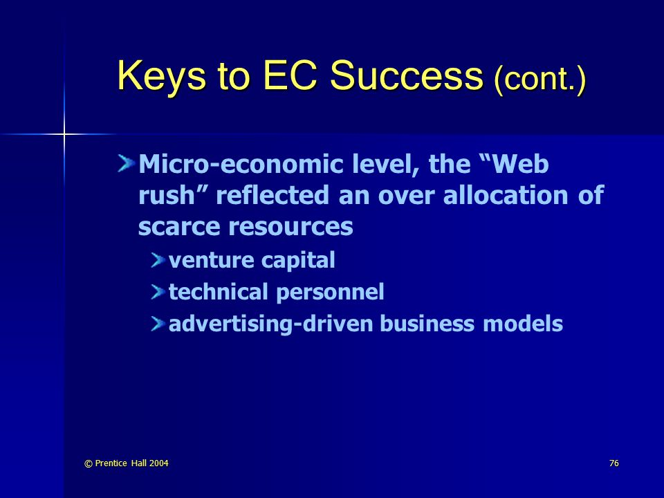 Keys to EC Success (cont.)